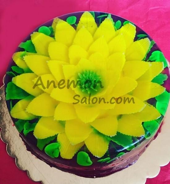 green jelly cake
