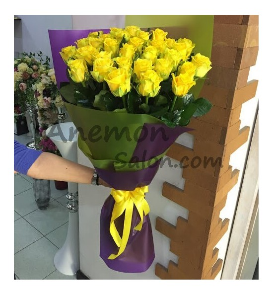 25 Yellow Roses
